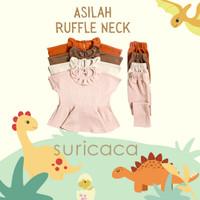 SURICACA Asilah Ruffle Neck Knit Set Baju Setelan Anak 2A