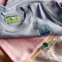 Baju Kaos Oblong Bayi HELLO BABY Polos Size S Bahan Adem Bagus