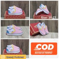 Sepatu Anak Perempuan 1-3 tahun Vans slip On Pink White size 20-27