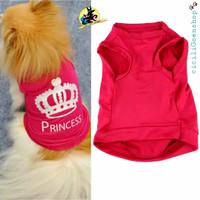baju kaos princess anjing kucing puppy murah lucu adem princes pink