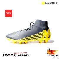 Sepatu Bola Nike Superfly 6 Club FG Dark Grey Black Yellow Original