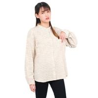 Monellina 50155 Baju Kemeja Atasan Koko Jumbo Lengan Panjang Wanita