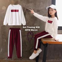fm fashion baju anak perempuan stelan trening baju olah raga senam