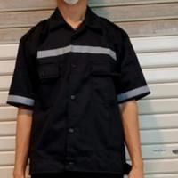 Baju Seragam Kerja Safety Proyek Lengan Pendek