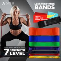 Premium Long Resistance Band Apex Warrior | Power Band | Karet Fitness