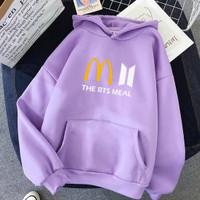 Jaket Sweater Hoodie Anak Perempuan Cewek BTS MEAL | Baju Sweter Anak