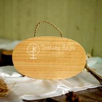 Cutting Board / Talenan Kayu Tali Oval / Talenan Oval / Talenan Unik
