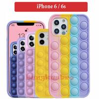 iPhone 6 6s Soft Case Casing Back Cover Bubble Rainbow Pop It Lucu