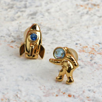 Astro - Anting Perak Silver 18k Gold Plated Earring by AR Signature