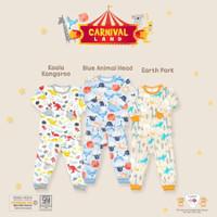 Libby 3 Setelan Oblong Baju Panjang Celana Panjang Print Motif Mix Boy