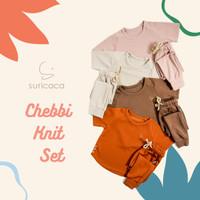 SURICACA Chebbi Knit Set Baju Setelan Anak Unisex 2B - Cokelat, XL