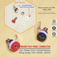 MH Female Binding Post 2mm Banana Socket Panel Mount Konektor Plug HQ