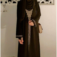 Abaya Turkey Hitam Bordir Gamis Arab Jubah Wanita Muslimah Baju syari - S
