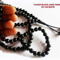 Tasbih black Jade 99 Butir Bahan Terapi