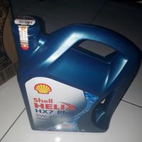 OLI Mesin Mobil Shell Helix HX7 4LITER 5W-40 ORI Bersegel Resmi