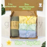 GlitzBaby Hampers Bayi Kado Lahiran Newborn Gift Set - Star Top