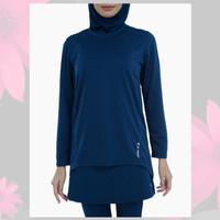 KAOS SPORT WANITA ASTEC Amira Women's Long Sleeve T-Shirt - Navy ORI
