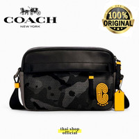 (100% ORIGINAL) Tas COACH Edge Crossbody Bag With Camo Print