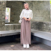 Terbaru!!! Yurika Blouse White Atasan Baju Wanita Terbaru