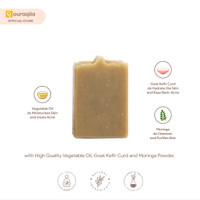 AQILA - KEIF MORINGA SOAP BAR (Sabun Natural Kefir, Kelor & Spirulina)