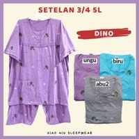 Piyama Kaos Jumbo Wanita 5L Celana Pendek / Baju Tidur Big Size