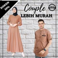Baju Gamis Couple Pasangan Wanita Pria Pakaian Muslim Terbaru