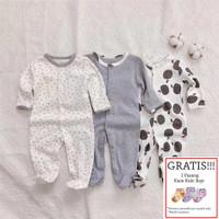 Baju Tidur Bayi Sleepsuit 3 in 1 Mamas Papas Premium Motif Apple