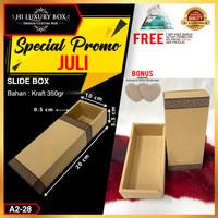 Slide Box Kardus Dus Packaging Dus murah Kotak Kraft slide  A2-28