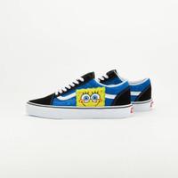 Sepatu Vans X Spongebob Ua Old Skool Black/Blue   BNIB Original Resmi