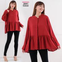LD135 Baju Atasan Wanita Jumbo Blouse Bigsize Oversize Busui Hamil XXL