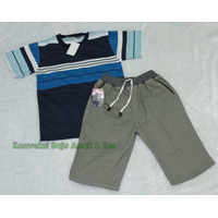 Baju Anak Laki laki Setelan Kaos Salur Umur 2 3 4 5 6 7 8 9 10 Tahun