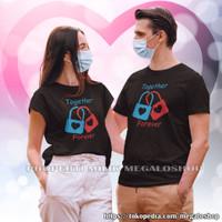 Kaos Kapel Pasangan Pacar Keluarga Baju Pria Wanita Together Forever