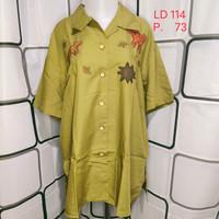 Atasan wanita Kemeja import Kualitas Butik Warna Hijau Shopakholic 37a