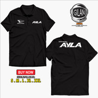 Polo Shirt Kaos Kerah Daihatsu Ayla Kaos Mobil Otomotif - Gilan - Hitam, S