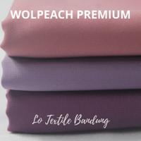 Kain Wolfis Woolpeach Premium 0.5 Meter - Bahan Wolpeach (Serie 2)