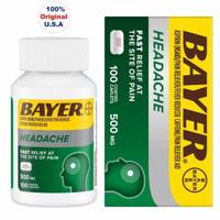 BAYER Headache Aspirin 500mg Coated Pain Reliever with Caffeine Tablet