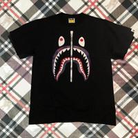 Bape Shark Original Kaos Black T-shirt Tee A Bathing Ape Purple Camou