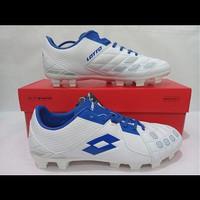 Sepatu bola Lotto Squadra FG white/Dawn Blue [L01010012]