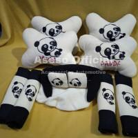 Bantal mobil set 9 pcs Universal - motif Panda
