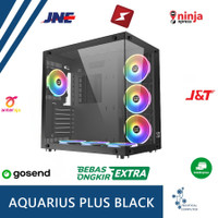 CASING Xigmatek Aquarius Plus - 7 FAN RGB Black- PC Gaming Case