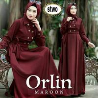Baju Gamis Wanita Muslim Remaja Dan Dewasa Murah Trend Model Terbaru - maroon