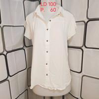 Atasan wanita Blouse import Kualitas Butik Warna Putih Shopakholic 54