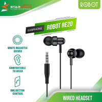 Earphone Robot RE20 Oblique In-Ear Deep Bass Ultra Light Wired Headset