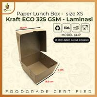 PAPER LUNCH BOX SIZE XS TAKE AWAY BOX COKLAT KRAFT 290 GSM Anti Rembes