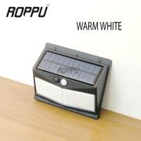 ROPPU Lighting 100 LED Solar Wall Light Outdoor- Warm White