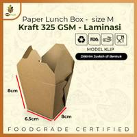 Food Pail Paper Rice Box PE Foodgrade Laminasi Anti Bocor Rembes Sz M