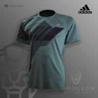 Kaos Dry FIt Running Adidas Jersey Baju Olahraga Gym Futsal Dry Fit - L