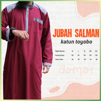 Baju Jubah Gamis Pria Muslim Laki Dewasa Salman Lengan Panjang Toyobo