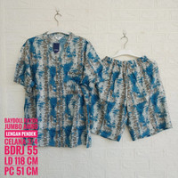 Baju Tidur AMRO Lengan Pendek Celana 3/4 Jumbo (BDRJ)
