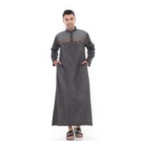 Baju Jubah Gamis Pria Muslim Laki As-Sabar Lengan Panjang Haromain